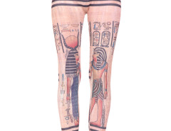 Pink Symbol Pattern High Waist Leggings Choies.com online fashion store United Kingdom Europe