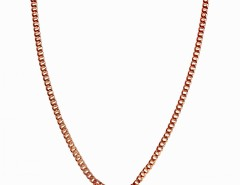 Plated Rose Gold Brass Necklace with a Heart Charm JCH3 Carnet de Mode online fashion store Europe France