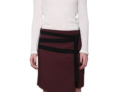 Plum Wrap Skirt Zig Zag Carnet de Mode online fashion store Europe France