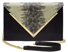 Printed Lizard Leather Clutch Le Versailles Carnet de Mode online fashion store Europe France