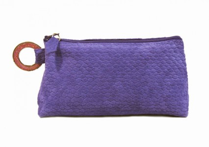 Printed Python Velvet Purple Leather Clutch Carnet de Mode online fashion store Europe France