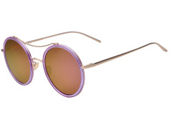 Purple Transparent Frame Round Mirror Sunglasses Choies.com online fashion store United Kingdom Europe