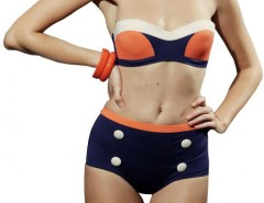 Purple and Orange Swimsuit 4772 Carnet de Mode online fashion store Europe France