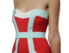 Red Bustier Swimsuit Carnet de Mode online fashion store Europe France