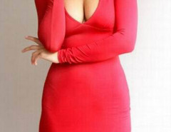 Red Plunge Cut Out Back Long Sleeve Bodycon Dress Choies.com online fashion store United Kingdom Europe