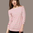 Red Stripe Long Sleeve T-shirt Choies.com online fashion store United Kingdom Europe