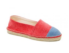 Red and Denim Cotton Espadrilles - La Marinera Carnet de Mode online fashion store Europe France