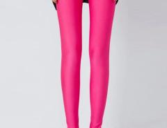 Rose Red High Waist Stretchy Leggings Choies.com online fashion store United Kingdom Europe