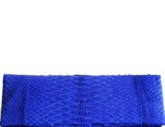 Royal Blue Python Leather Clutch - Essentiel Carnet de Mode online fashion store Europe France