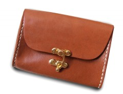 Rust Leather Purse Carnet de Mode online fashion store Europe France