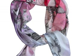 SCARF - BOUDOIR PHILOSOPHY - PINK Carnet de Mode online fashion store Europe France