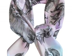 SCARF - MONKEYS NIGHTMARE - PINK Carnet de Mode online fashion store Europe France
