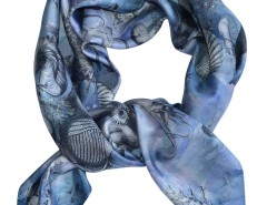 SCARF - OCTOPUS TRAP - BLUE Carnet de Mode online fashion store Europe France