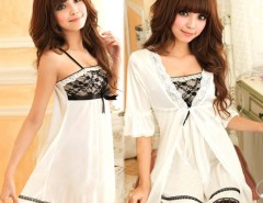 Sexy Women Twinset Lace Pajama Strap Sleep Night Dress Nightwear Sleepwear Set Cndirect online fashion store China