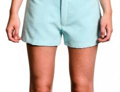 Shorts - Faux Suede - Blue Carnet de Mode online fashion store Europe France