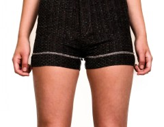 Shorts - SOFT TWEED - Black Carnet de Mode online fashion store Europe France