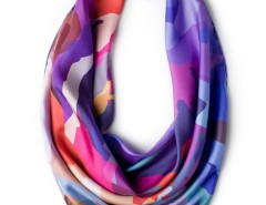 Silk scarf - Mountain Rainbow Carnet de Mode online fashion store Europe France