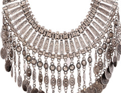 Silver Statement Drop Necklace Choies.com online fashion store United Kingdom Europe