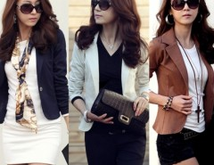 Spring Women's Slim Short Blazer Suit Jacket Coat Outwear Cndirect online fashion store China