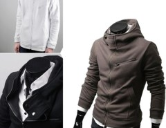 Stylish Fashion Men's Designed Slim Fit Hoodies Coat Jacket Sweatshirt Tops Cndirect online fashion store China