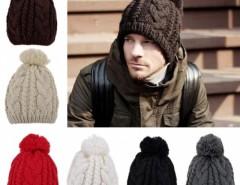 Stylish New Women's Men's Unisex Knit Winter Warm Ski Skating Soft Cap Hat Cndirect online fashion store China