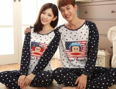 Stylish Stylish Long Sleeve Lovers Couple Pajamas Sleepwear Sets Women M L XL Men L XL XXL Cndirect online fashion store China