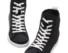 Supra Black Lace Up Sneakers Choies.com online fashion store United Kingdom Europe