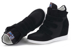 Supra Black Patch Velcro Strap Sneakers Choies.com online fashion store United Kingdom Europe