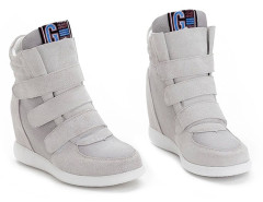 Supra Gray Patch Velcro Strap Sneakers Choies.com online fashion store United Kingdom Europe