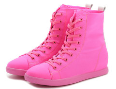 Supra Hot Pink Lace Up Sneakers Choies.com online fashion store United Kingdom Europe