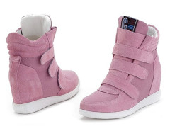 Supra Pink Patch Velcro Strap Sneakers Choies.com online fashion store United Kingdom Europe