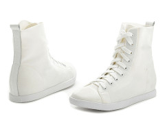 Supra White Lace Up Sneakers Choies.com online fashion store United Kingdom Europe