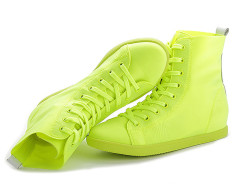 Supra Yellow Lace Up Sneakers Choies.com online fashion store United Kingdom Europe