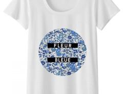 Tee shirt Fleur bleue Carnet de Mode online fashion store Europe France