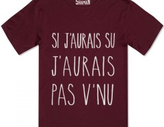 Tee shirt Si j'aurai su Carnet de Mode online fashion store Europe France
