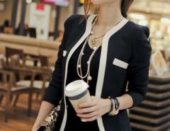 V-neck One Button Blazer OASAP online fashion store China