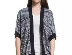 Variegated Contrast Open Front Kimono Cardigan Choies.com online fashion store United Kingdom Europe