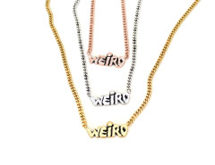 WEIRD Necklace. Unisex. Various Colors. MrKate.com online fashion store USA