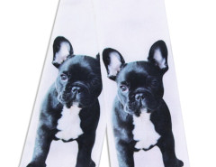 White 3D Cute Bulldog Print Ankle Socks Choies.com online fashion store United Kingdom Europe