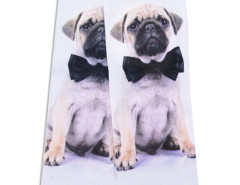 White 3D Tied Pug Print Ankle Socks Choies.com online fashion store United Kingdom Europe