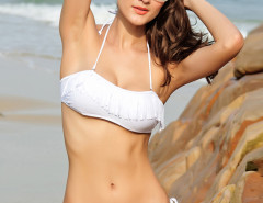 White Bandeau Tassel Bikini Top And Tie Side Bottom Choies.com online fashion store United Kingdom Europe
