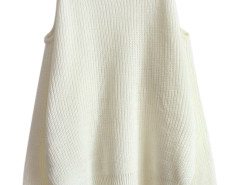 White Cold Shoulder Long Sleeve Jumper Choies.com online fashion store United Kingdom Europe
