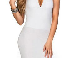 White Cut Out Sleeveless Bodycon Dress Choies.com online fashion store United Kingdom Europe