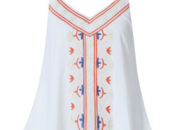 White Embroidery Layer Cami Vest Choies.com online fashion store United Kingdom Europe