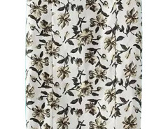White Floral Print Side Zipper Bodycon Skirt Choies.com online fashion store United Kingdom Europe