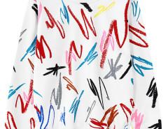 White Graffiti Print Long Sleeve Sweatshirt Choies.com online fashion store United Kingdom Europe