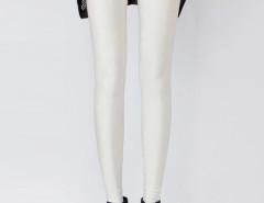 White High Waist Stretchy Leggings Choies.com online fashion store United Kingdom Europe