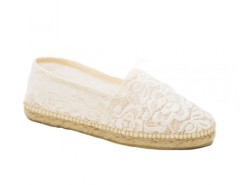 White Lace Espadrilles - Cancan Blanche Carnet de Mode online fashion store Europe France