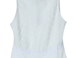 White Laser Out Lace Detail Vest Choies.com online fashion store United Kingdom Europe