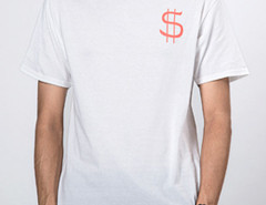 White Money Talk Print Short Sleeve T-shirt Choies.com online fashion store United Kingdom Europe